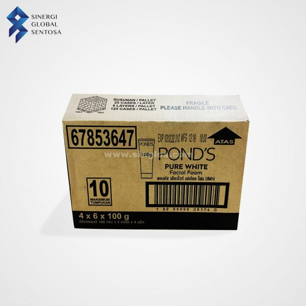 Ponds Pure White Facial Foam Carton